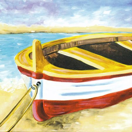 Beached Boat 16x20