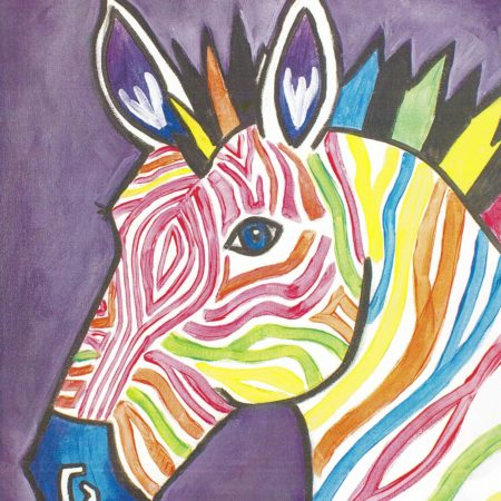 Electric Zebra 16x20