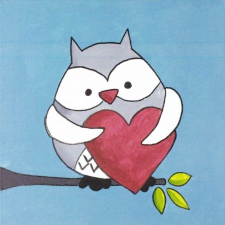 Hoo Loves You 12x12
