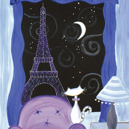 Kitty In Paris 16x20
