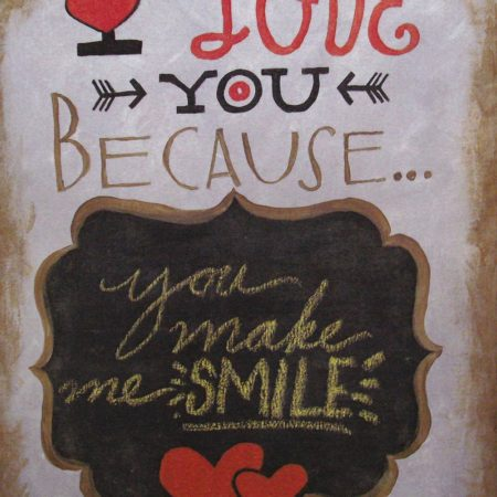Love You Because 16x20