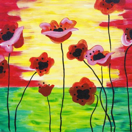 Poppies In Bloom 16x20