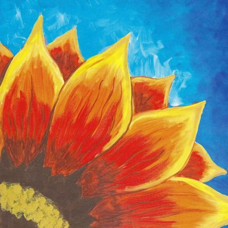 Red Sunflower 16x20