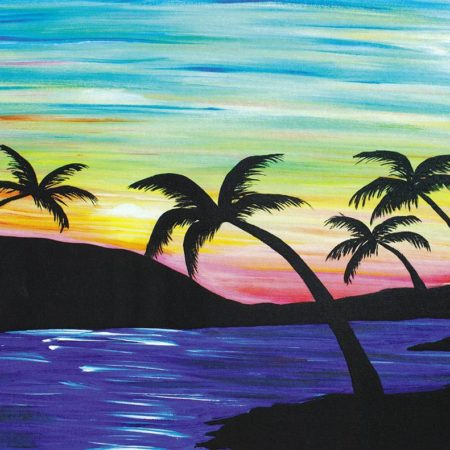 Sunset Palms 16x20