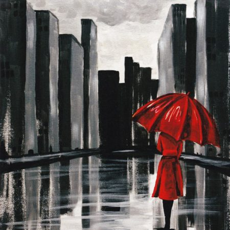 The Red Umbrella 16x20