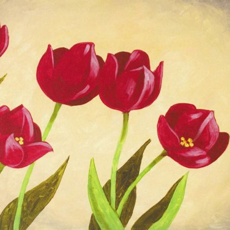 Tulips Are Red 16x20