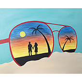 Sand And Sunglasses 16x20