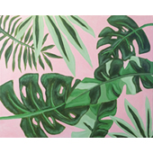 Tropical Leaves 16x20