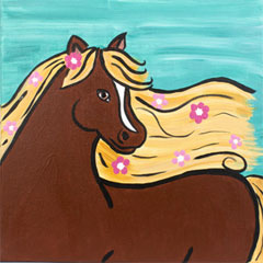 Flowery Filly 12x12