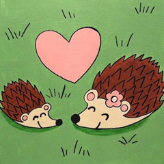Hedgehog Love 12x12