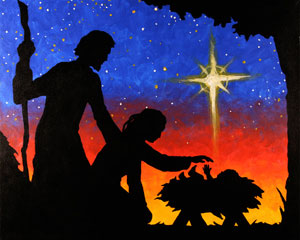 Nativity Silhouette 16x20