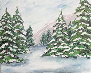 Snow On The Pines 16x20