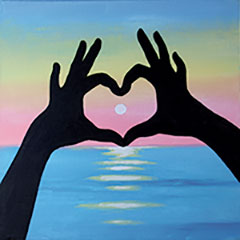 Sunset Love 12x12
