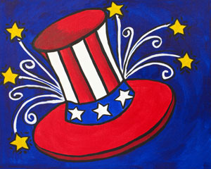Uncle Sams Hat 16x20
