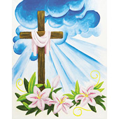 Easter Cross 16x20