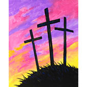 Easter Sunrise Silhoutte 16x20