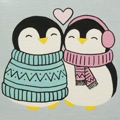 Penguin Love 12x12