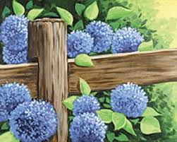 Floral Country Fence 16x20