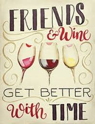 Friends And Wine 16x20